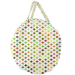 Background Multicolored Star Giant Round Zipper Tote