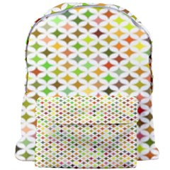 Background Multicolored Star Giant Full Print Backpack