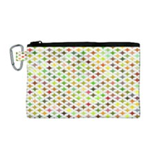 Background Multicolored Star Canvas Cosmetic Bag (medium)