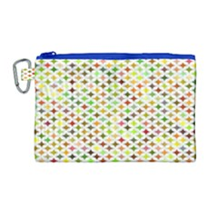 Background Multicolored Star Canvas Cosmetic Bag (large)