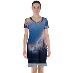 Warming Global Environment Nature Short Sleeve Nightdress