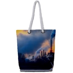 Warming Global Environment Nature Full Print Rope Handle Tote (small)