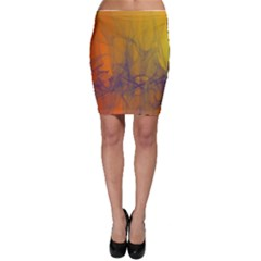 Fiesta Colorful Background Bodycon Skirt