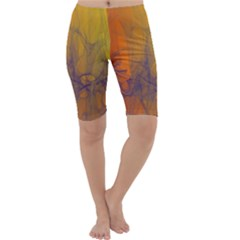 Fiesta Colorful Background Cropped Leggings