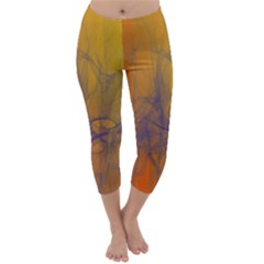 Fiesta Colorful Background Capri Winter Leggings