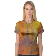 Fiesta Colorful Background V Neck Sport Mesh Tee