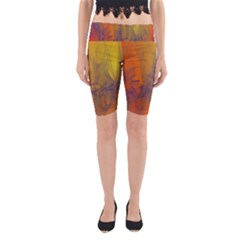 Fiesta Colorful Background Yoga Cropped Leggings