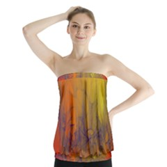Fiesta Colorful Background Strapless Top