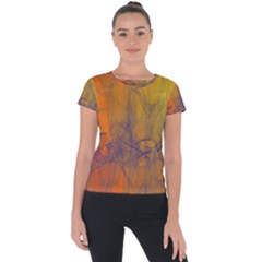 Fiesta Colorful Background Short Sleeve Sports Top