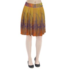 Fiesta Colorful Background Pleated Skirt
