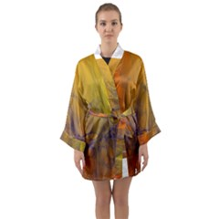 Fiesta Colorful Background Long Sleeve Kimono Robe