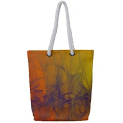 Fiesta Colorful Background Full Print Rope Handle Tote (small)