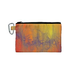 Fiesta Colorful Background Canvas Cosmetic Bag (small)
