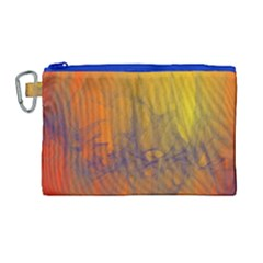Fiesta Colorful Background Canvas Cosmetic Bag (large)