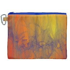 Fiesta Colorful Background Canvas Cosmetic Bag (xxl)