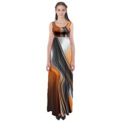 Fractal Structure Mathematics Empire Waist Maxi Dress