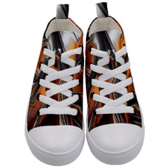 Fractal Structure Mathematics Kid s Mid Top Canvas Sneakers
