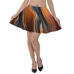 Fractal Structure Mathematics Velvet Skater Skirt