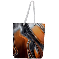 Fractal Structure Mathematics Full Print Rope Handle Tote (large)