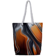 Fractal Structure Mathematics Full Print Rope Handle Tote (small)