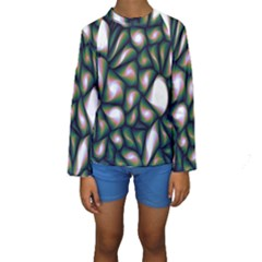 Fuzzy Abstract Art Urban Fragments Kids  Long Sleeve Swimwear