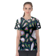 Fuzzy Abstract Art Urban Fragments Women s Sport Mesh Tee