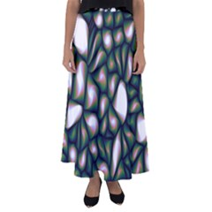 Fuzzy Abstract Art Urban Fragments Flared Maxi Skirt