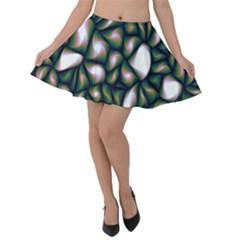 Fuzzy Abstract Art Urban Fragments Velvet Skater Skirt