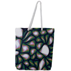 Fuzzy Abstract Art Urban Fragments Full Print Rope Handle Tote (large)