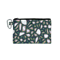 Fuzzy Abstract Art Urban Fragments Canvas Cosmetic Bag (small)