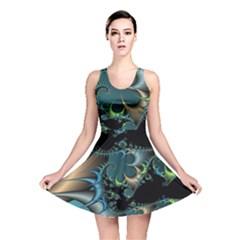 Fractal Art Artwork Digital Art Reversible Skater Dress