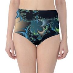 Fractal Art Artwork Digital Art High Waist Bikini Bottoms