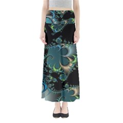 Fractal Art Artwork Digital Art Full Length Maxi Skirt