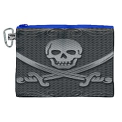 Skull Metal Background Carved Canvas Cosmetic Bag (xl)