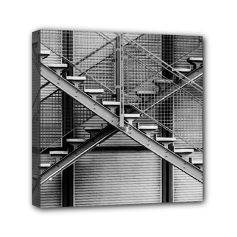 Architecture Stairs Steel Abstract Canvas Travel Bag