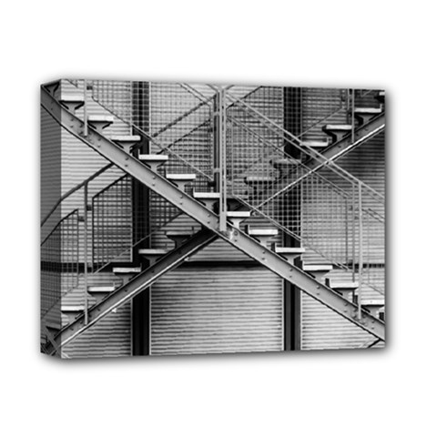 Architecture Stairs Steel Abstract Deluxe Canvas 14  X 11