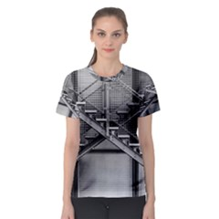 Architecture Stairs Steel Abstract Women s Sport Mesh Tee