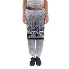Architecture Stairs Steel Abstract Women s Jogger Sweatpants