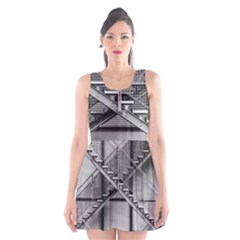 Architecture Stairs Steel Abstract Scoop Neck Skater Dress