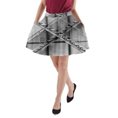 Architecture Stairs Steel Abstract A Line Pocket Skirt