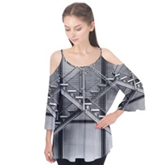 Architecture Stairs Steel Abstract Flutter Tees