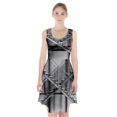 Architecture Stairs Steel Abstract Racerback Midi Dress