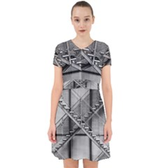Architecture Stairs Steel Abstract Adorable In Chiffon Dress