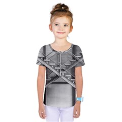 Architecture Stairs Steel Abstract Kids  One Piece Tee