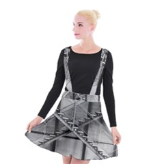Architecture Stairs Steel Abstract Suspender Skater Skirt