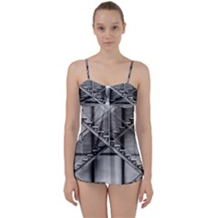 Architecture Stairs Steel Abstract Babydoll Tankini Set