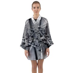 Architecture Stairs Steel Abstract Long Sleeve Kimono Robe