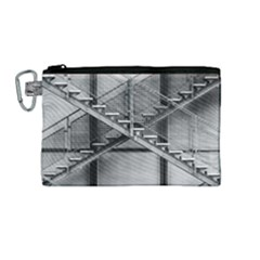 Architecture Stairs Steel Abstract Canvas Cosmetic Bag (medium)