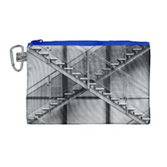 Architecture Stairs Steel Abstract Canvas Cosmetic Bag (large)