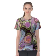 Retro Background Colorful Hippie Women s Sport Mesh Tee